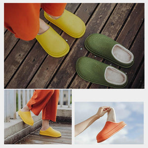 Super warm waterproof non-slip home slippers