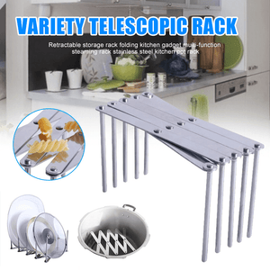 Rack-Transformer Kitchen Stretchable Storage Shelf