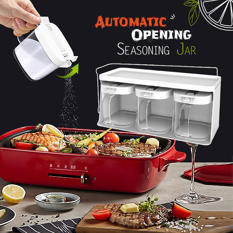 Automatic Opening Seasoning Jar