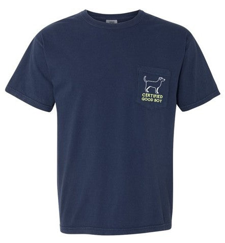 Certified Good Boy Pocket Tee - Navy