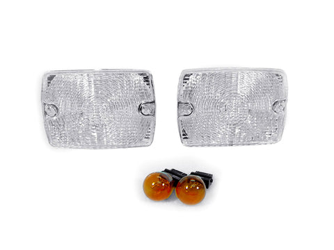 1987-1993 Jeep Wrangler YJ Clear or Smoke Front Bumper Turn Signal Light Made by DEPO-Lighting-DEPO-BL-JP-YJ-87-CLR-Jeep Hood Latch