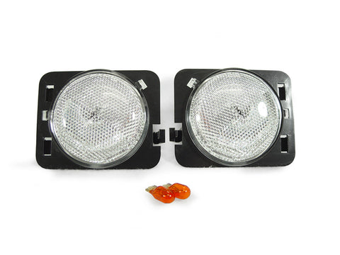 2007-2018 Jeep Wrangler JK Clear or Smoke Front Fender Side Marker Light Made by DEPO-Lighting-DEPO-BL-SM-JP-JK-07-CLR-Jeep Hood Latch
