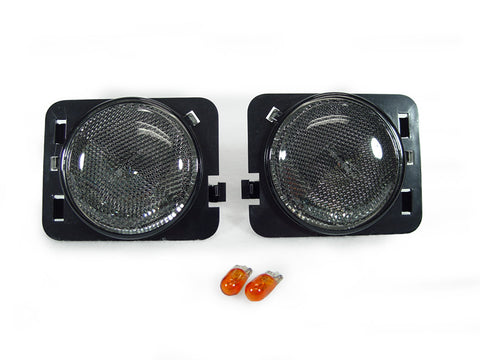 2007-2018 Jeep Wrangler JK Clear or Smoke Front Fender Side Marker Light Made by DEPO