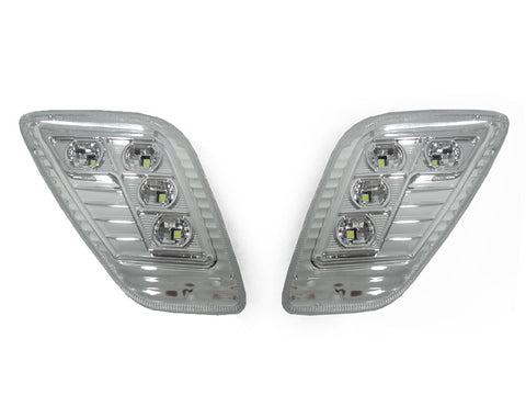 1996-2006 Jeep Wrangler TJ Clear or Smoke Lens White LED Front Fender Side Marker Light Made by DEPO-Lighting-DEPO-BL-SM-JP-TJ-LED-CW-Jeep Hood Latch
