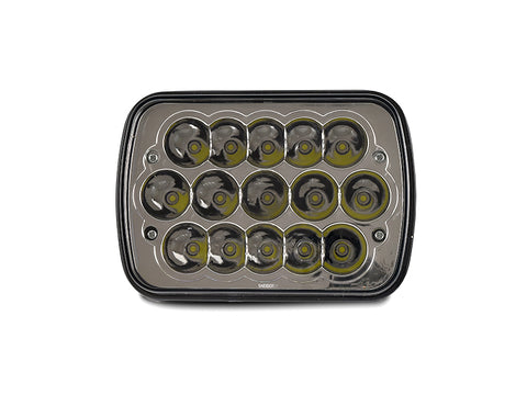 Full LED High and Low Beam Plug and Play 7x6 H6054 Sealed Beam Headlight New Pair Set