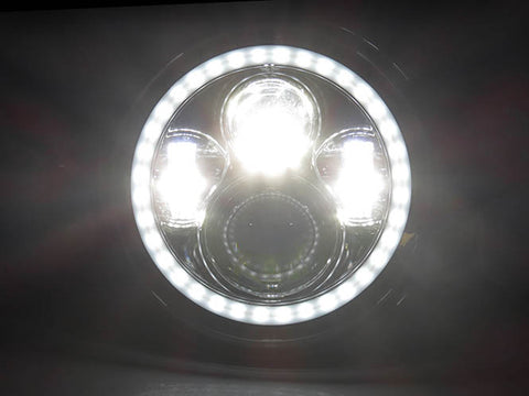 Full LED High and Low Beam Plug and Play 7