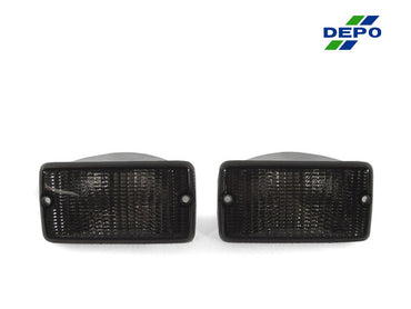 1996-2006 Jeep Wrangler TJ Clear or Smoke Front Bumper Turn Signal Light Made by DEPO-Lighting-DEPO-BL-JP-TJ-97-SMK-Jeep Hood Latch