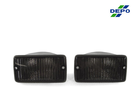 1996-2006 Jeep Wrangler TJ Clear or Smoke Front Bumper Turn Signal Light Made by DEPO