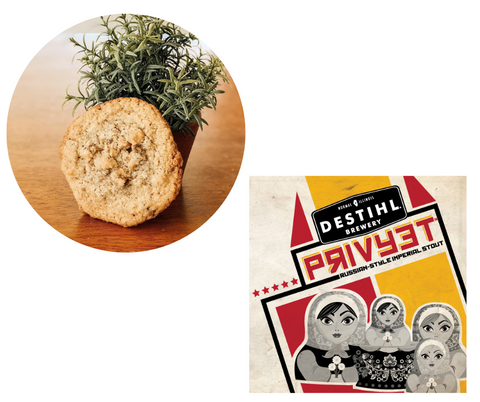 Walnut Crunch Cookie and Destihl Privyet Russian Imperial Stout