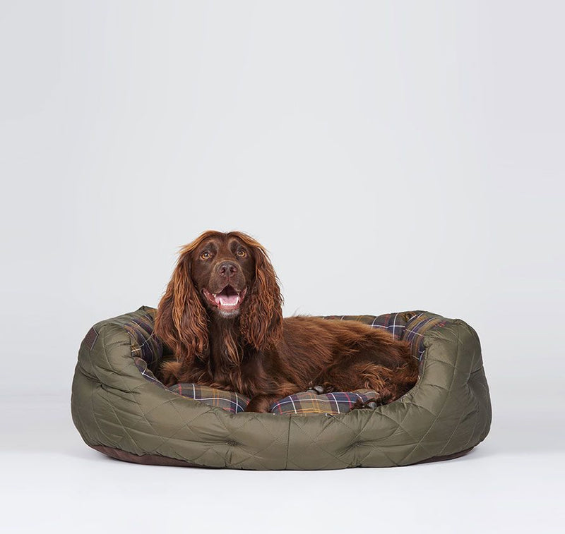 Barbour Quilted Dog Bed, hundeseng