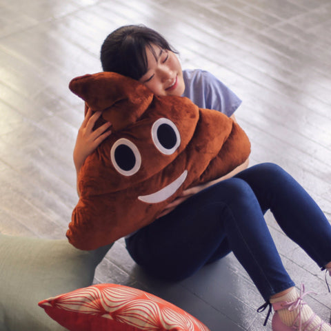 Huge Emoji Poop Pillow