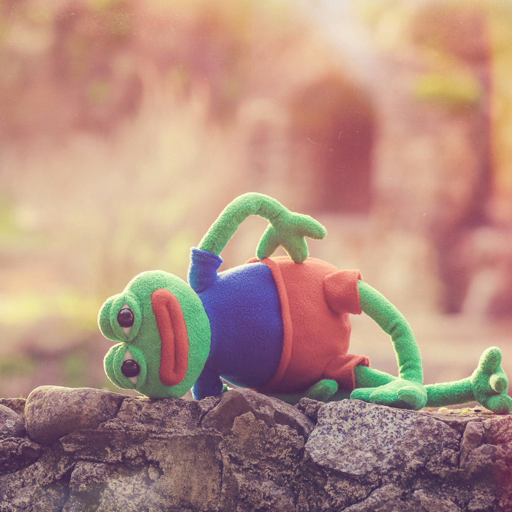 Pepe the Frog plush doll by Matt Furie and Hashtag Collectibles