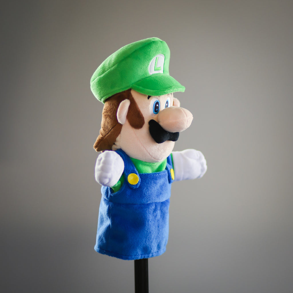 Super Mario Bros: official Luigi puppet (profile view)