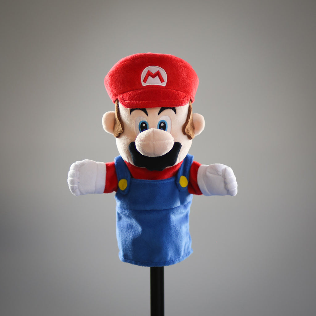 Super Mario Bros: official Mario puppet (frontal view)