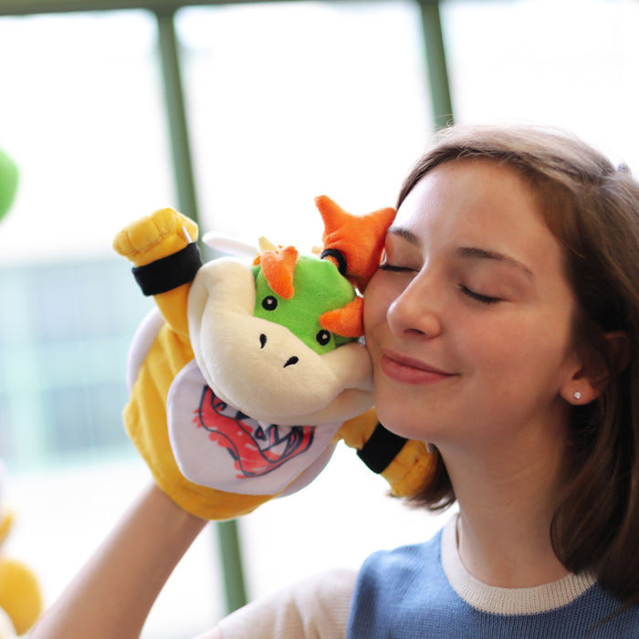 Super Mario Bros: Bowser Jr. Puppet (cuddling cutely with a model)