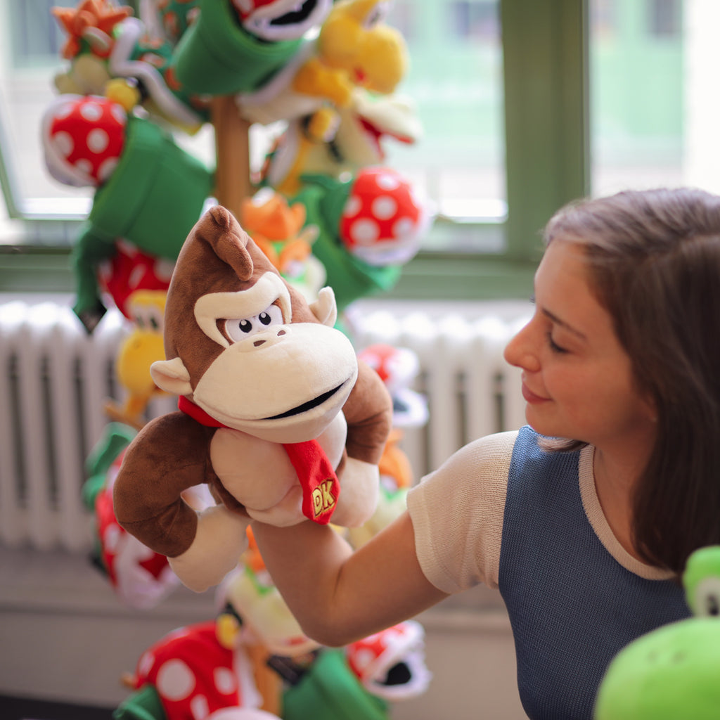 Donkey Kong puppet with a model