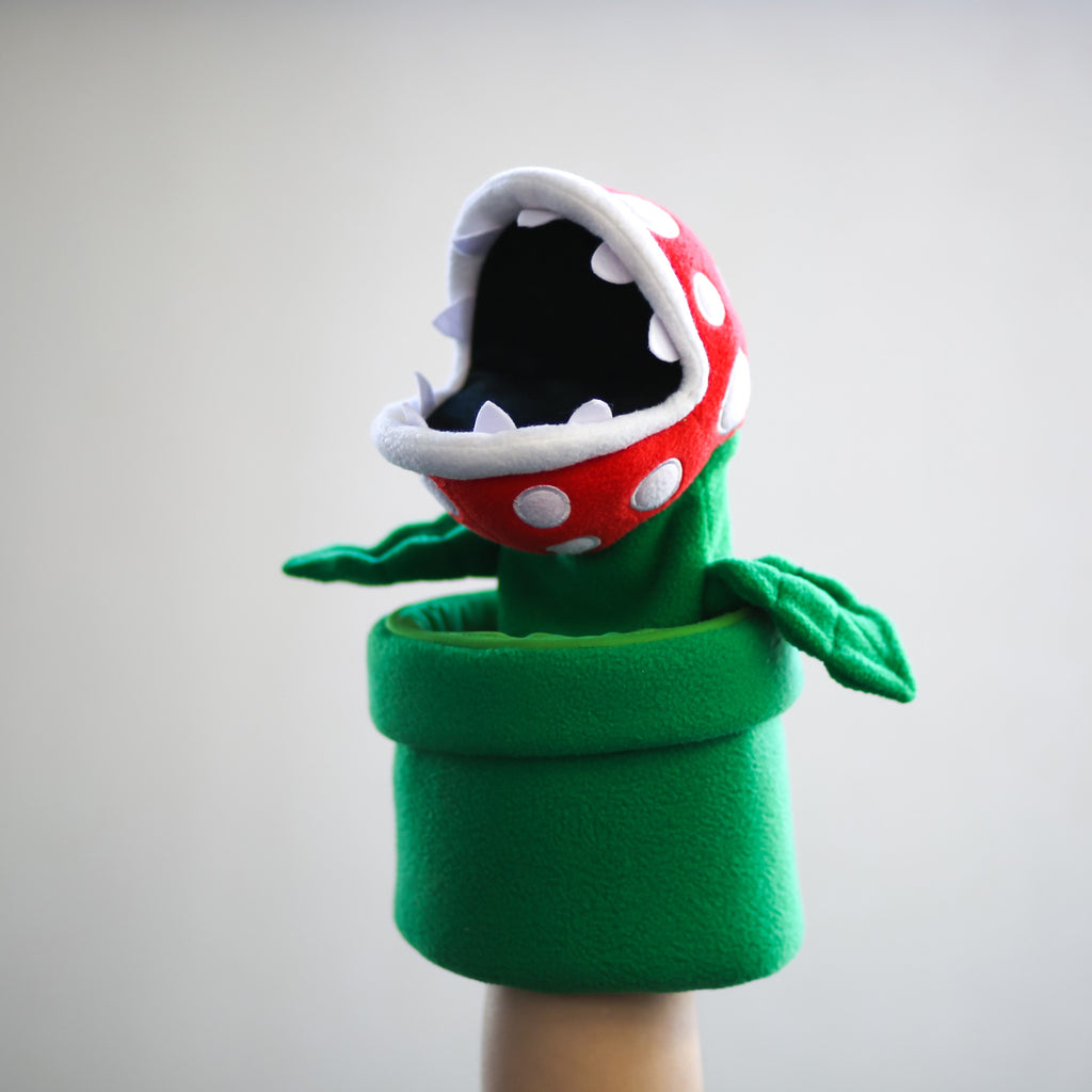 Piranha Plant puppet (mouth open)