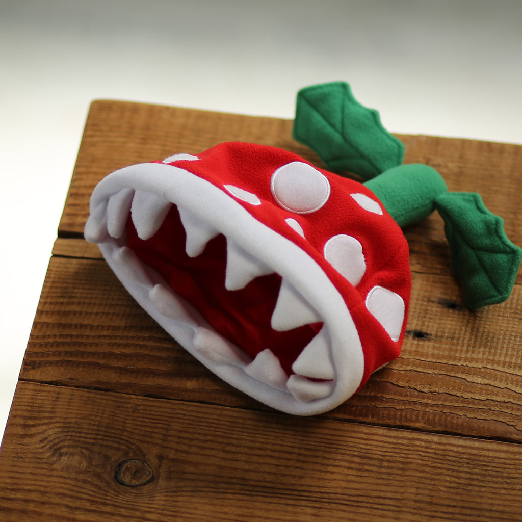 Official Nintendo product: Piranha Plant beanie