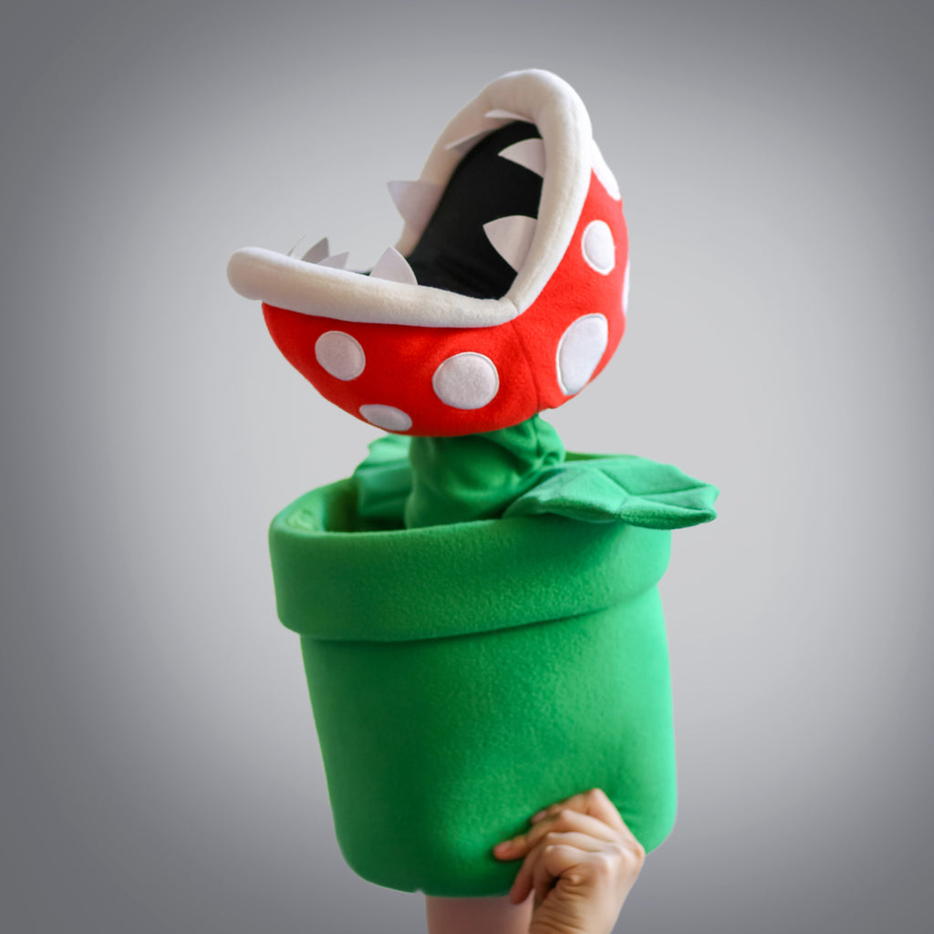 Gigantic Piranha Plant Puppet (emerging out of pipe with mouth open)