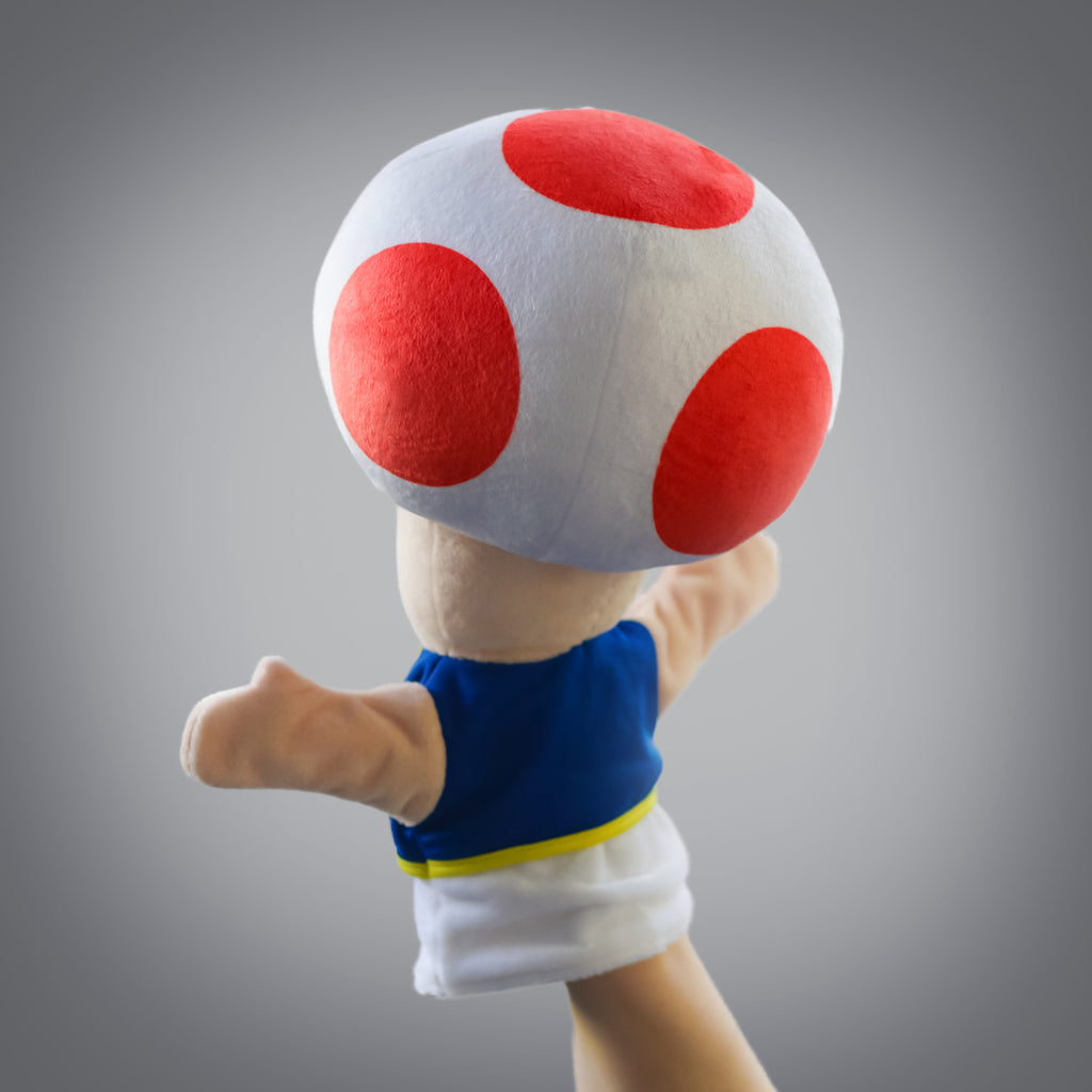 Super Mario Bros: official Toad puppet (back view)