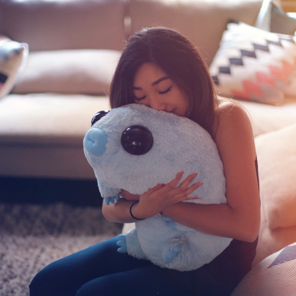 Stuffed Water Bear Plushie (Being hugged)