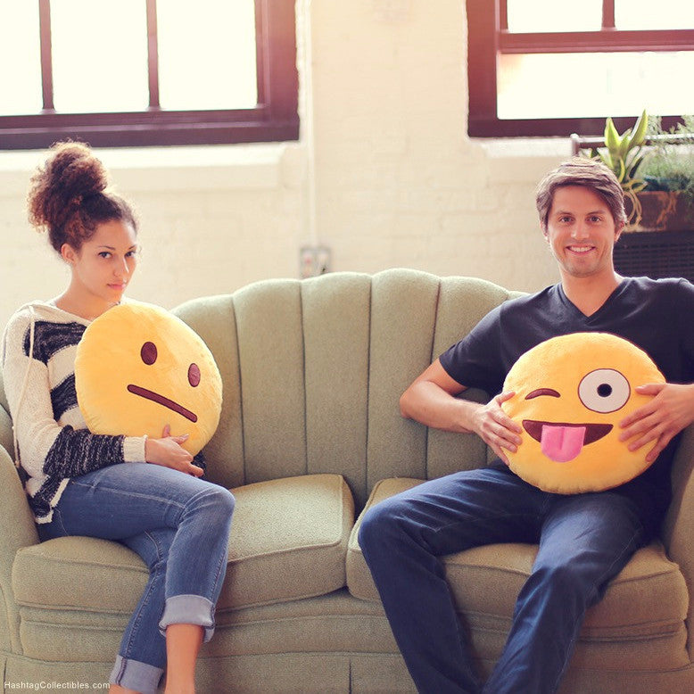 Ultimate emoji pillow - double sided