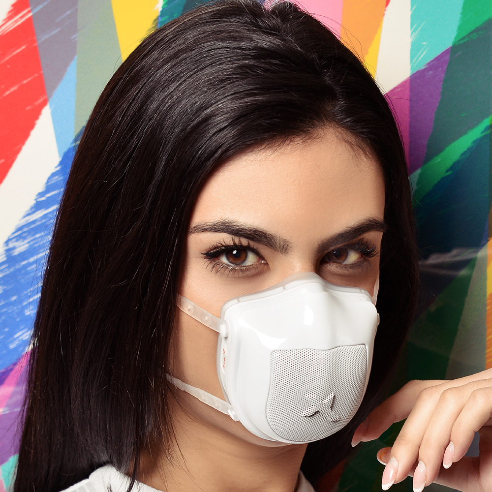 Ultramasx UltraOne™ is a respirator mask with a built-in 2-speed turbofan that helps you breathe better, solving the breathability issues of traditional textile masks while offering the highest protection available on the market.