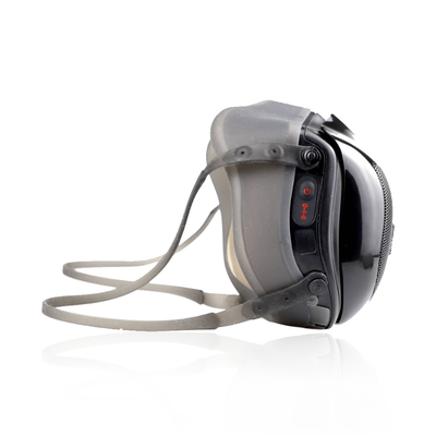 Ultramasx UltraOneTM is a respirator mask with a built-in 2-speed turbofan that helps you breathe better, solving traditional passive textile masks' main issue. Equipped with a removable HEPA and ultra-fine activated carbon filter, with rating KN100/N100/FFP3 equivalent, it offers state-of-the-art protection against pollutants in the air. Re-chargeable via USB and reusable hundreds of times. U.S. FDA registered, CE, and RoHS certified.