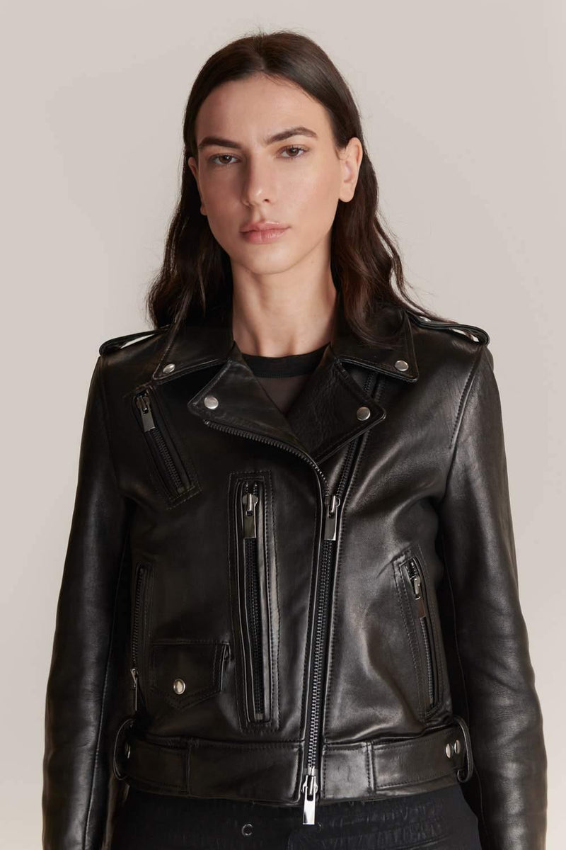 Leather Biker Jacket - JSP Ready