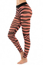 Zebra Hot Candy Mesh Leggings - JSP Ready