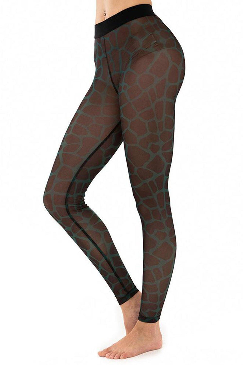 Giraffe Wild Forest Mesh Leggings - JSP Ready