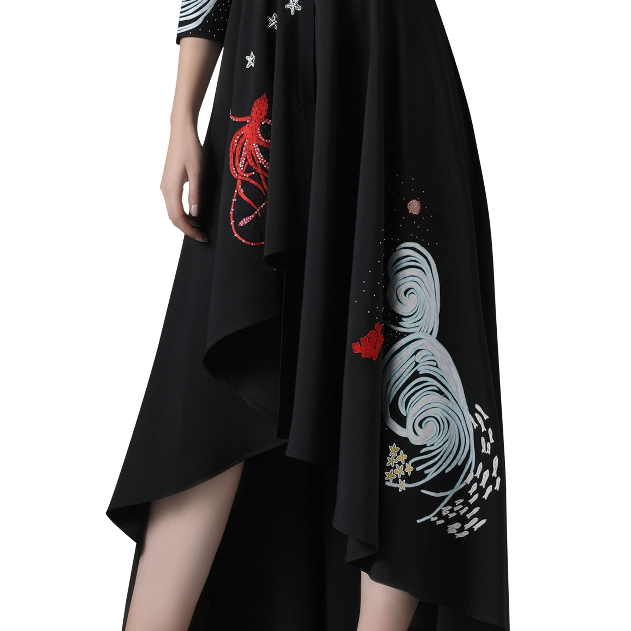 Embroidered Asymmetrical Dress