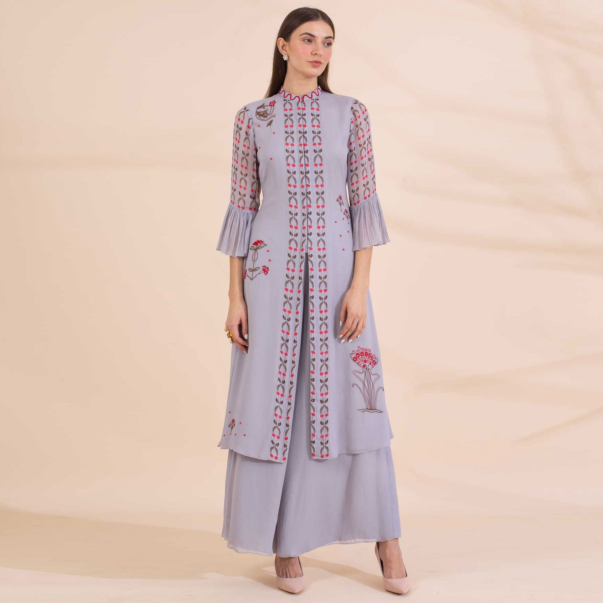 Embroidered Kurta with Palazzos