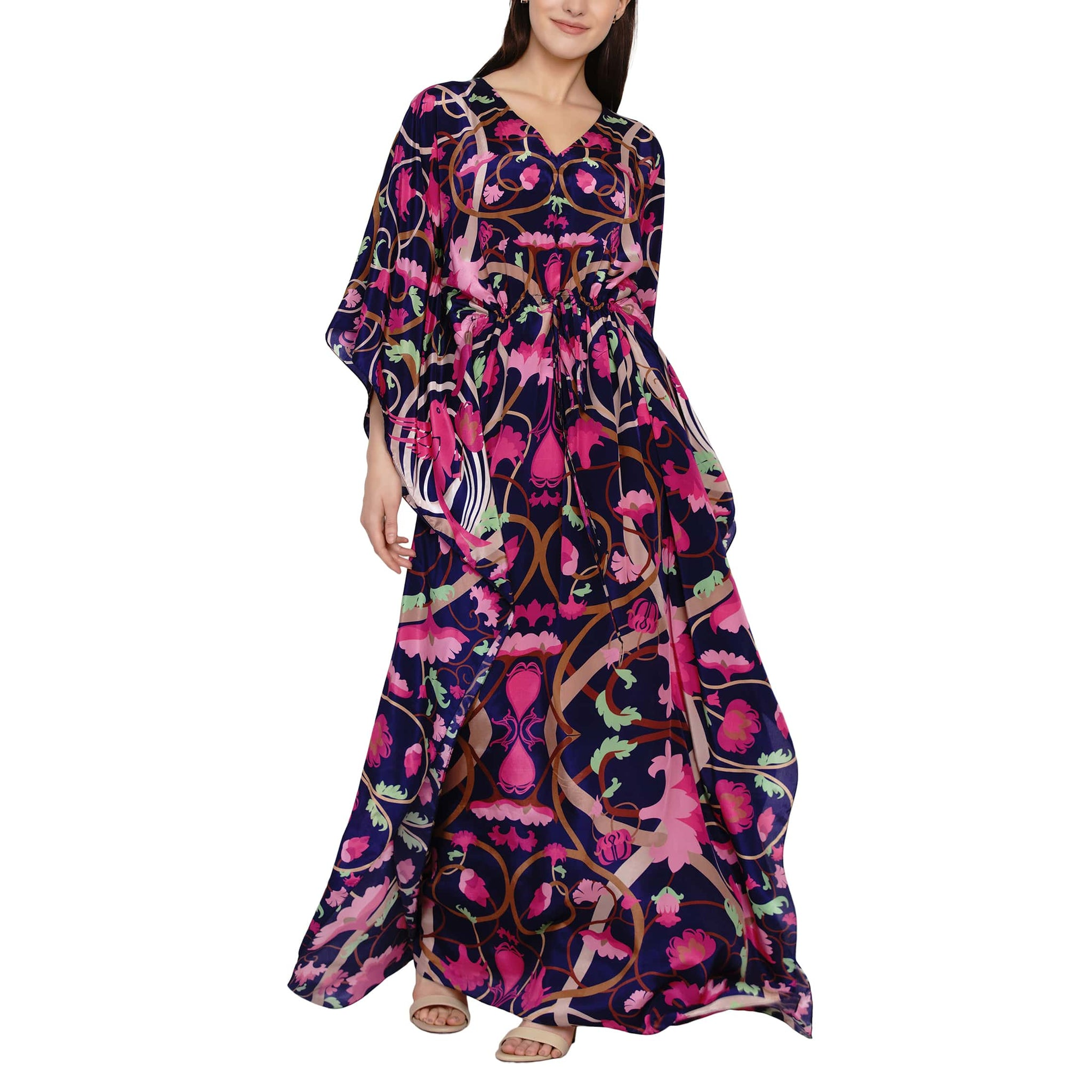 Printed kaftan with slit