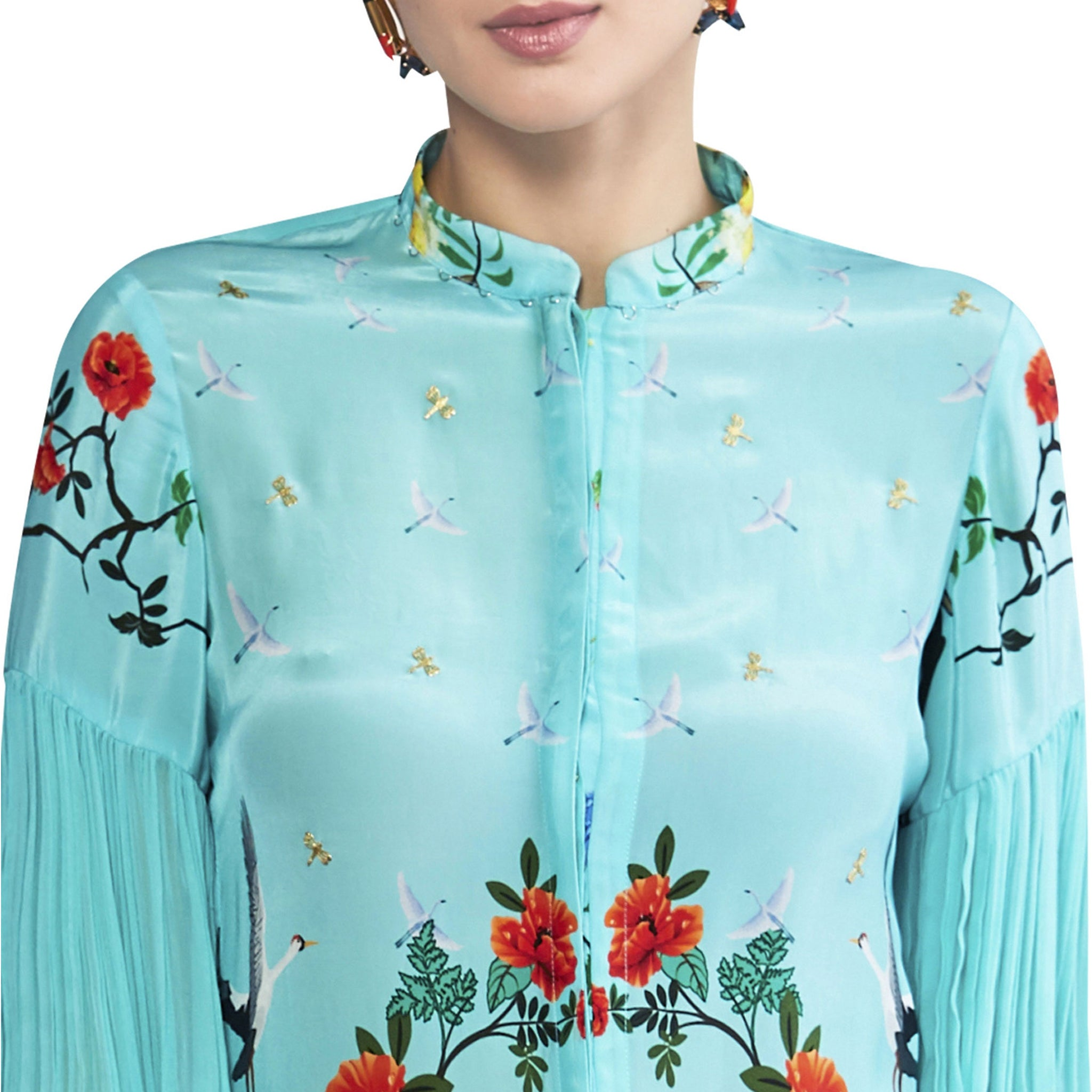 Embroidered Printed Kurta Set
