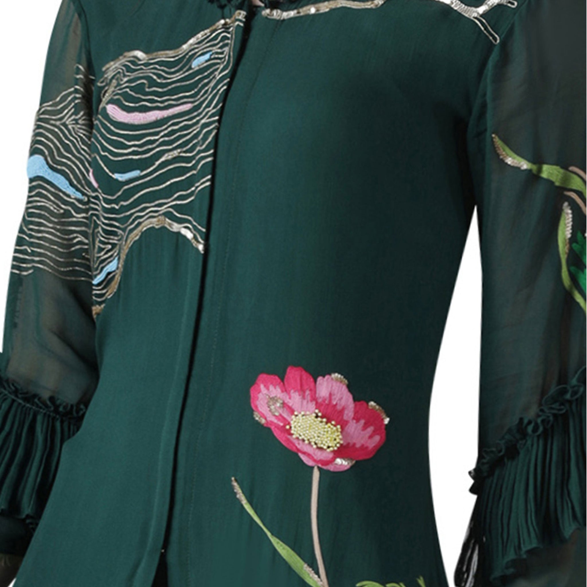 Embroidered Kurta and Pallazo Set