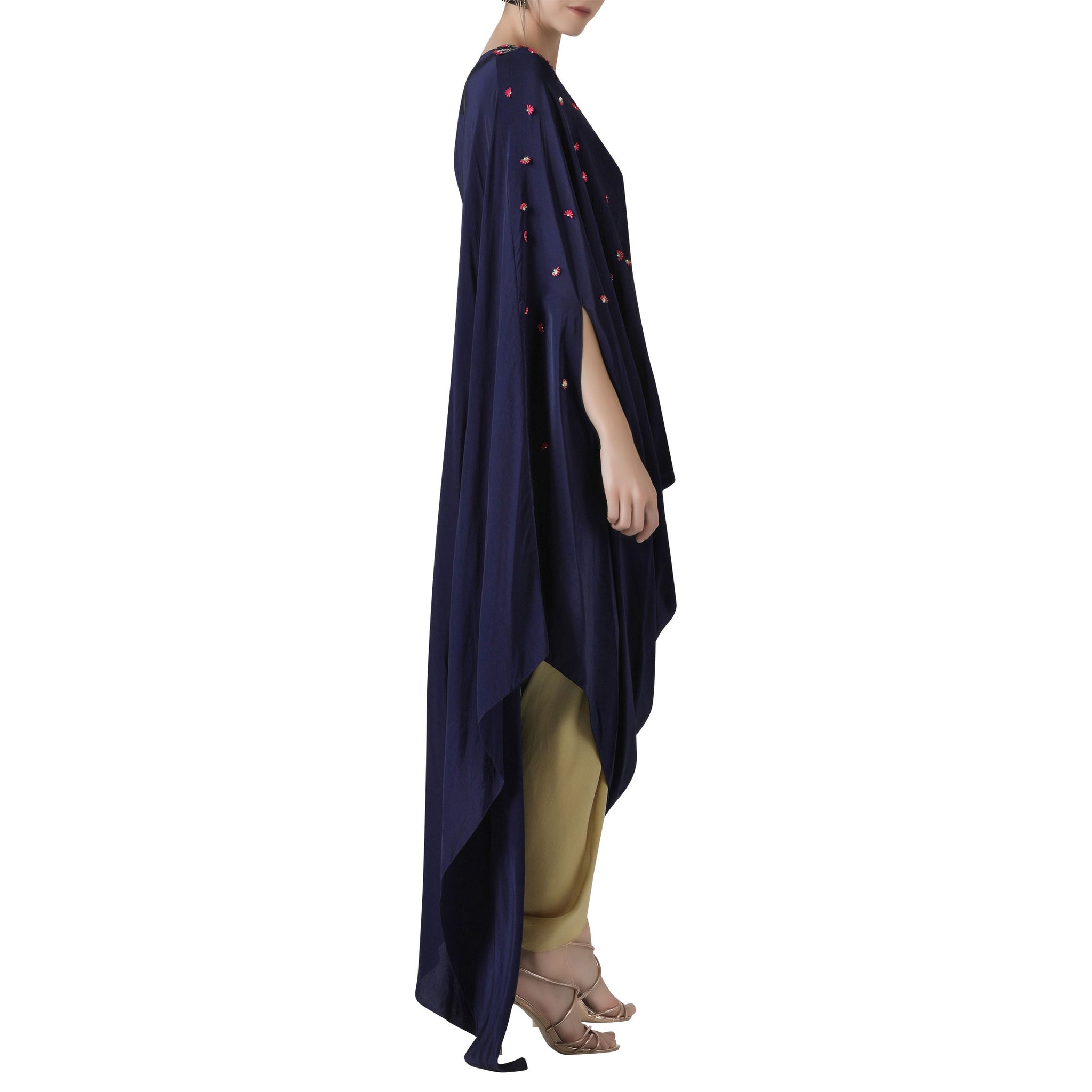 Embroidered Draped Tunic with Tulip Pants