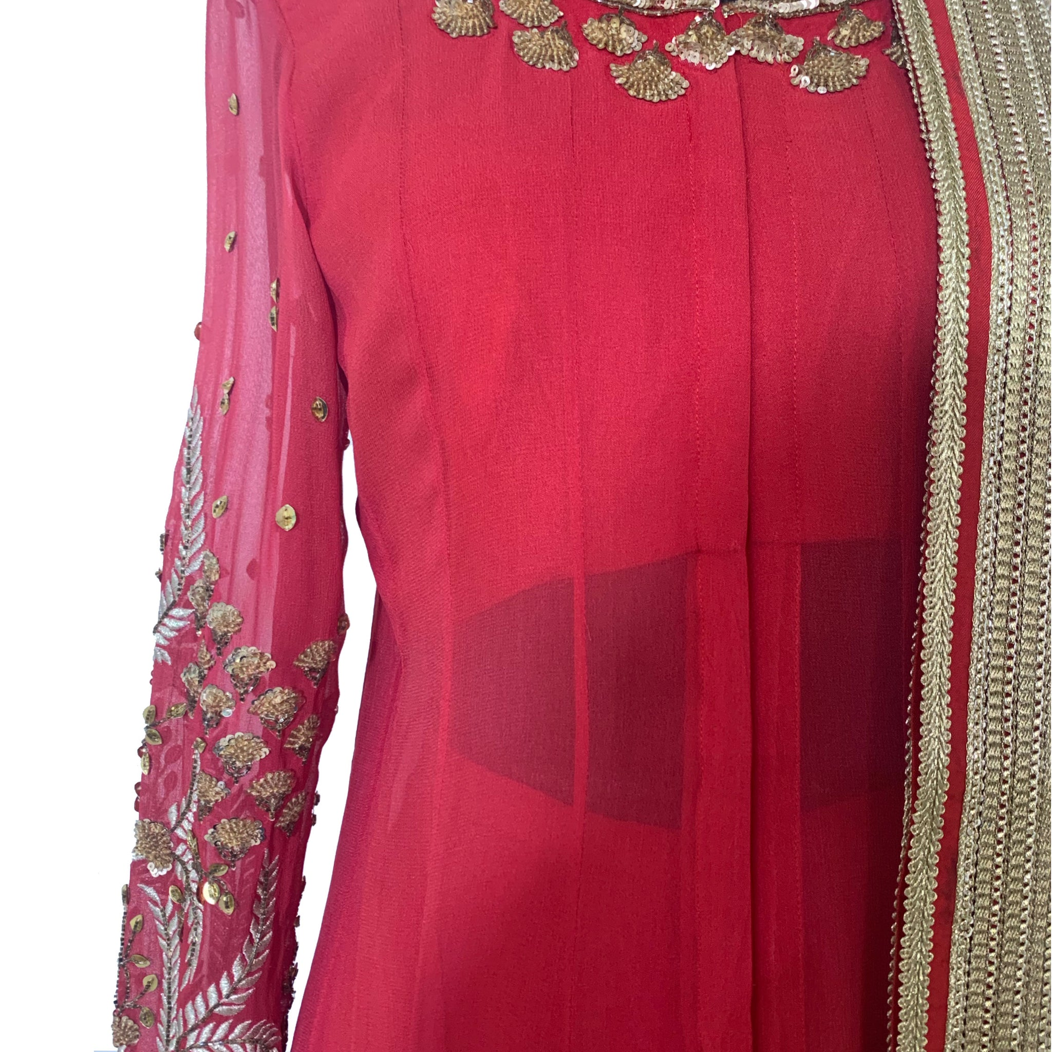 Embroidered Anarkali Set with Palazzo and Dupatta