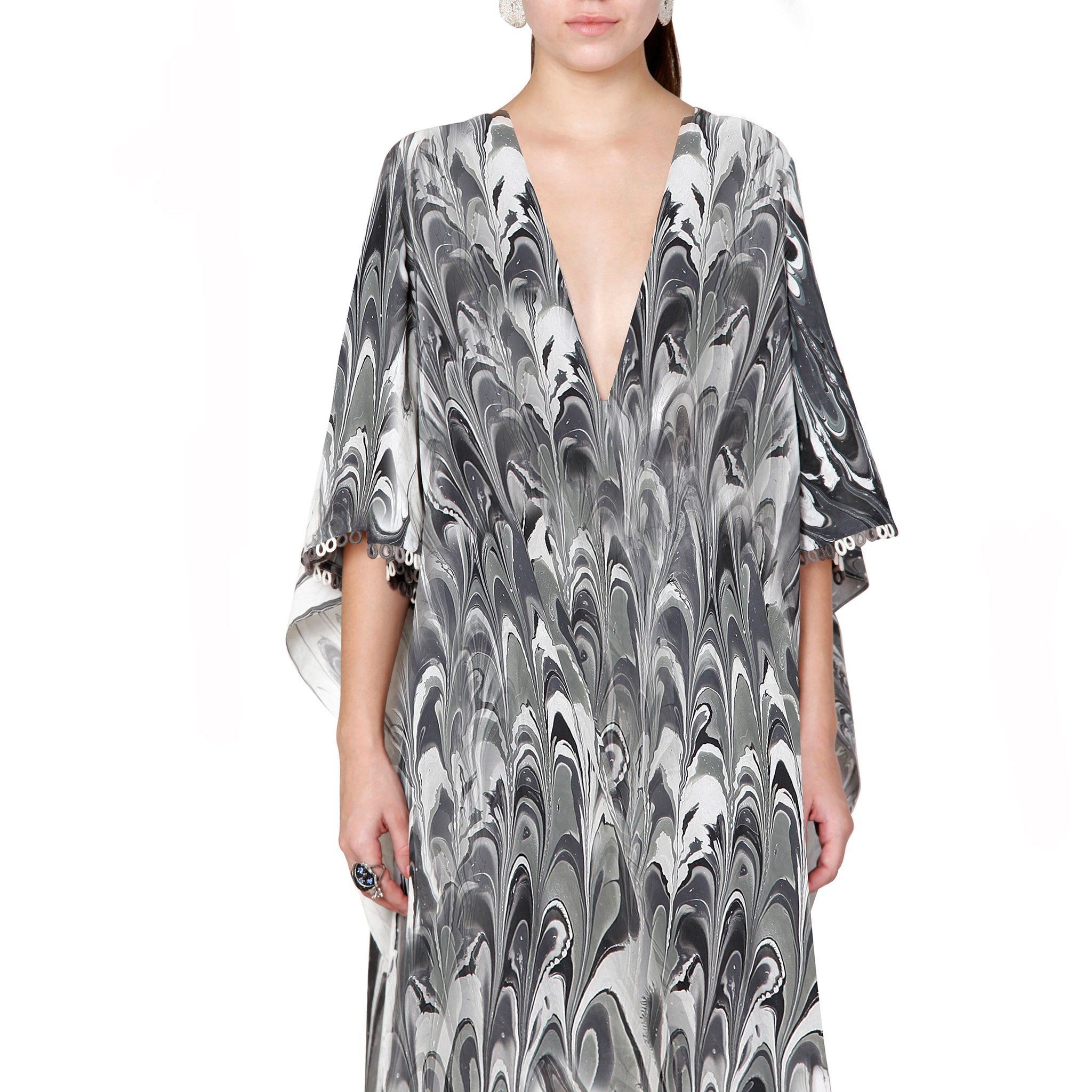 Draped Kaftan Dress