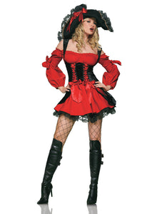 Sexy Red Pirate Costume