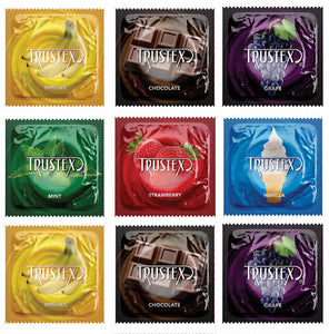 Trustex Flavored Condom Multi 12 pack