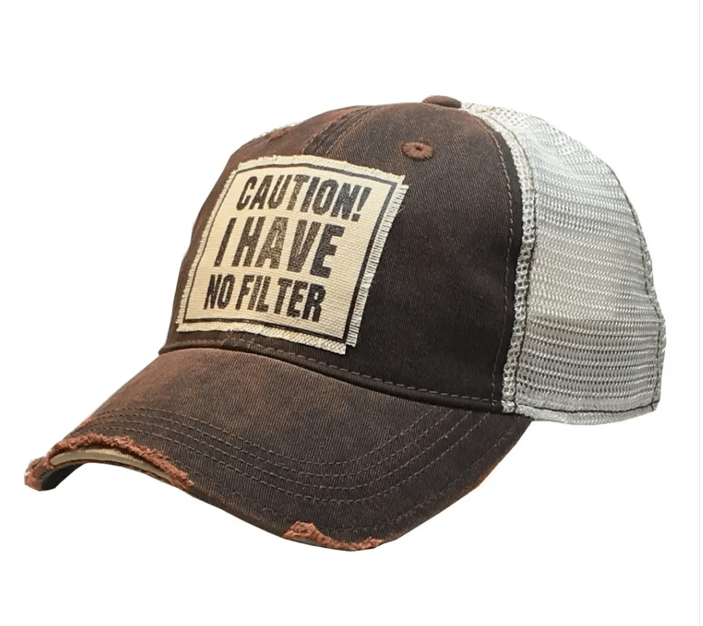 Brown Caution!  I have no Filter Hat