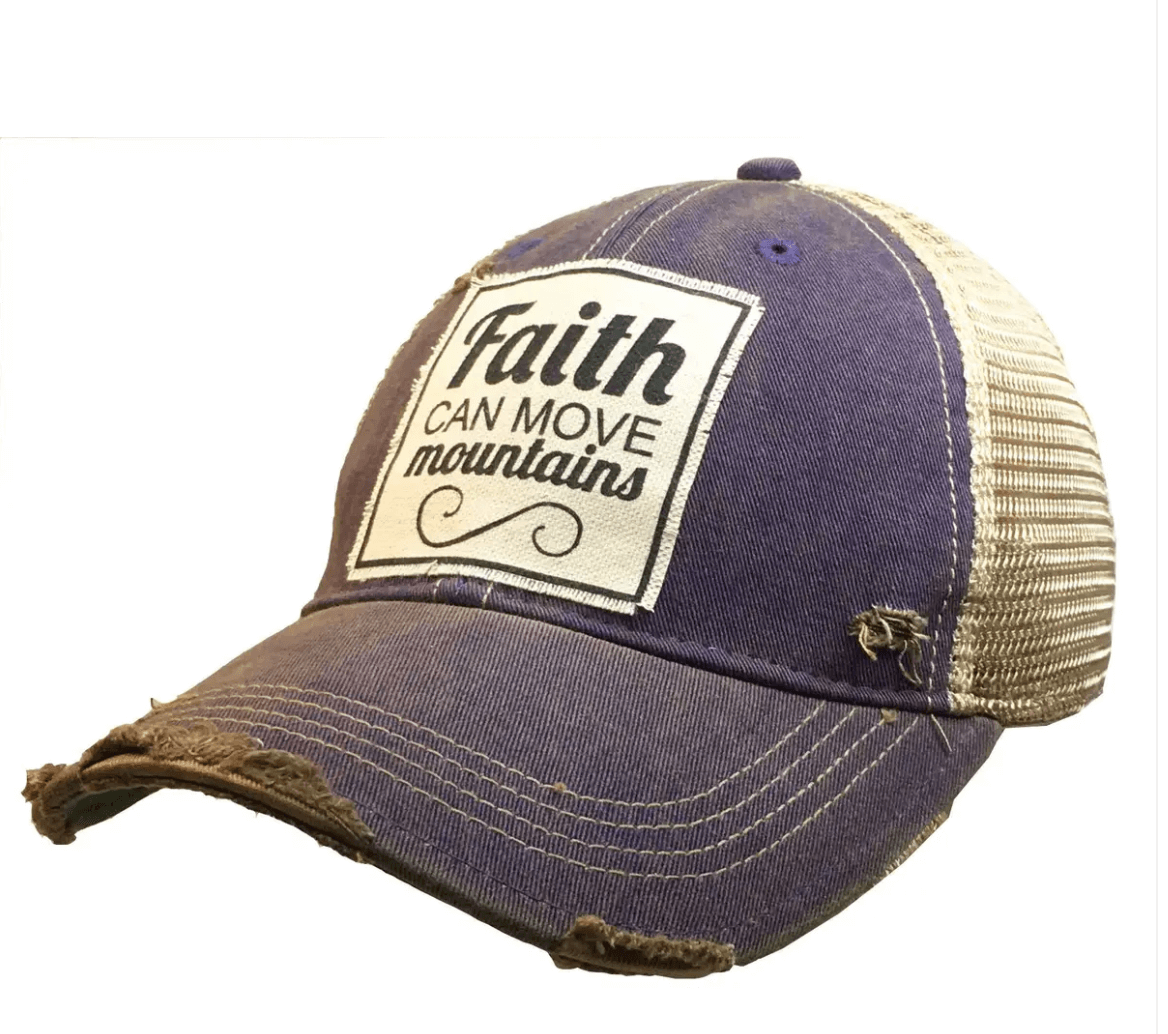 Purple Faith Can Move Mountains Trucker Hat