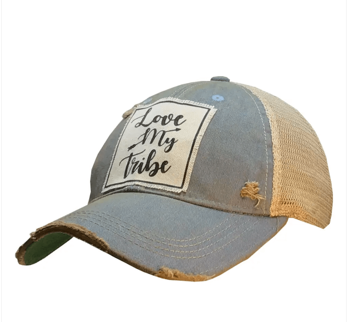 Blue Denim Love My Tribe Trucker Hat