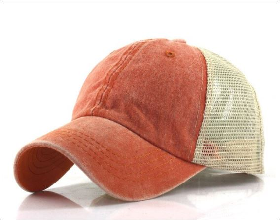 Distressed Orange Trucker Hat