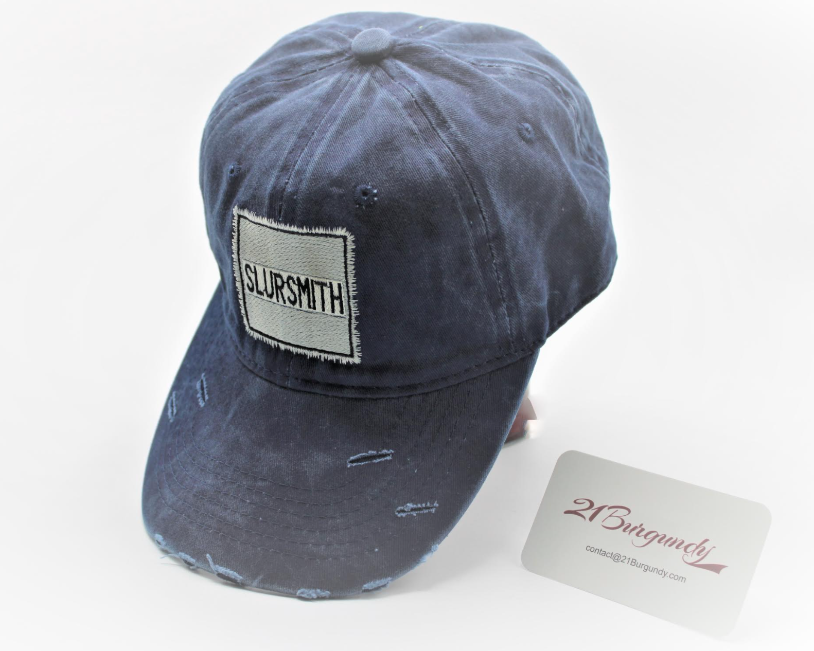 Dark Blue Slur Smith Trucker Hat