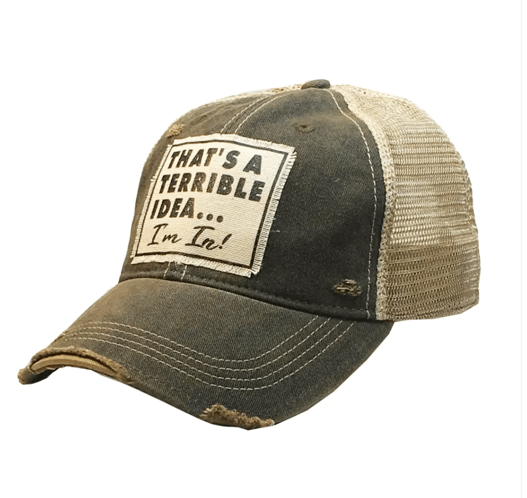 Brown Terrible Idea Hat Baseball Cap