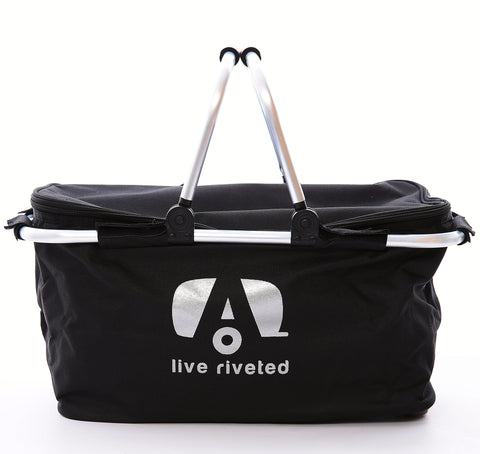 "Airstream Insulated Collapsible ""Live Riveted"" Basket - Airstream Brands"