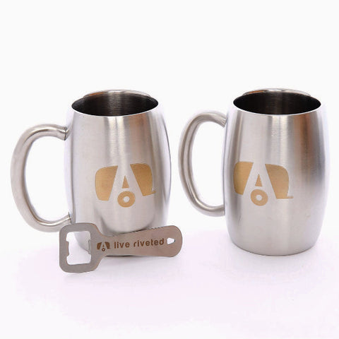 Airstream Stainless Double Wall Insulated Mug with Logo - Airstream Brands