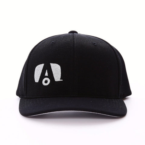 Airstream Logo Flex Fit Hat - Black/Grey - Airstream Brands